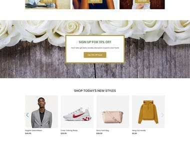 Build fashion and lifestyle online ecommerce store using WordPress, Woo commerce, Elementor.  Client requirements: Modern & clean design ecommerce website using woo commerce  Project duration 8 days Live preview http://amitsarker.com/wp/familyblendz/