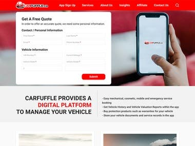 Build car warranty website from figma design.   Client requirements: Using bootstrap convert Figma design to responsive HTML website. Pixel perfect and w3c.org validation was crucial.  Project duration 24 hours  Live preview http://amitsarker.com/carp/