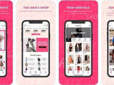 https://itunes.apple.com/us/app/shein-shopping-womens-clothing/id878577184?mt=8&ign-mpt=uo%3D4  With SheIn app you can take anything you love about SheIn with you everywhere you may roam. With the app, you instantly join a worldwide community of more than 3,000,000 fashion lovers.With tens of thousands of trendy items and over 200+ daily new arrivals, the SheIn app is your ultimate one-stop fashion shopping place in your pocket.   Key features include:  - 40% OFF on your first order! - FREE worldwide shipping - Over 200+ daily new arrivals - 7 x 24 customer service - Submit and vote for your favorite fashion style - Save products to wishlists and buy later - Follow top-notch bloggers for latest trendy styles - Get notifications on your order status and sale alerts - 24/7 Live chat real-time customer service