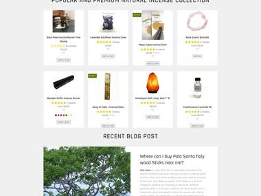 This is the Aromatherapy Products retail seller website. They are selling products in the local stores and Online.