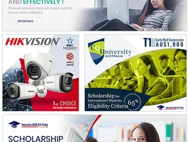 Web and Social Media Platform Banners and Posts designs