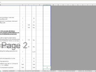 Automated material take-off and Bill of Quantity for a Project.