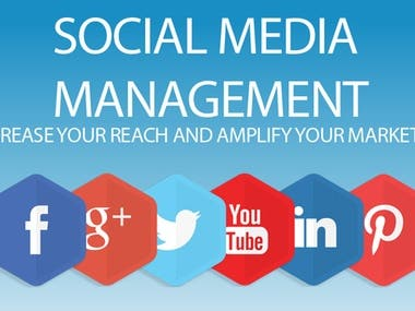 I am Social Media Management  expert. I am managed all kind of Social Media Optimization/social media marketing project. Specially I have more experience on Facebook/Twitter /Google+/Pintrest/Instagram/LinkedIn Marketing. I can give real and active like/followers/Traffic in World-Wide, USA, Canada, UK, Australia any targeted country. My main target is customer satisfaction.