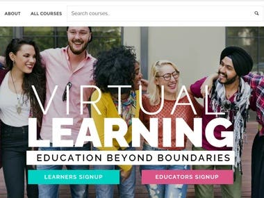 We developed this online education website to sell online courses. We can also develop courses.