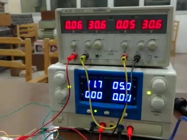 DC source and a three phase induction motor . the inverter is controlled by Arduino . Other microcontrollers can be used.