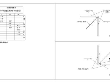 I can provide you detail drawing of the fence by using Auto CAD for construction.