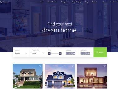 Fitness Website. Real estate broker Website Life site.