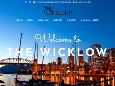 WordPress Website Link: https://www.thewicklow.com/