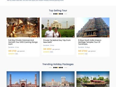 Indiator Website basically works for the users who are looking for a tour and want to make an online booking. I have worked on the Designing part of the site where changes were made according to the client on the website. All changes were done based on HTML5 and CSS.