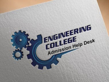 I have designed this minimal and creative logo for an engineering college. Please feel free to contact me for design like this.