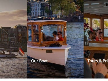 Take a private boat tour Amsterdam on our historic saloon boat Undine. The boat can seat up to 12 people for a luxury canal cruise Amsterdam. Undine has been completely renovated and equipped with every comfort - such as a sundeck, minibar, dining table, electric engine, heating system for colder and rainy days, double glass and fleece blankets.