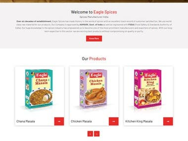 this is spices selling site .