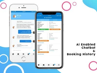 AI enabled chat Bot on Beauty services market place APP