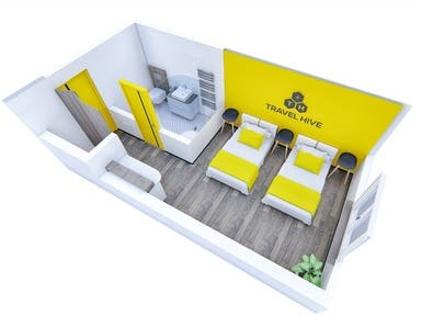 Hotel 3D Rendering