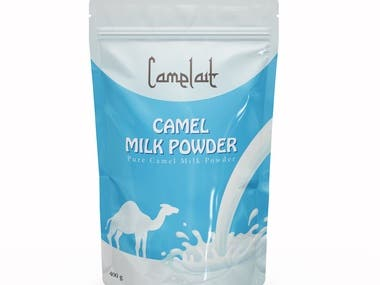 camel milk packaging design.