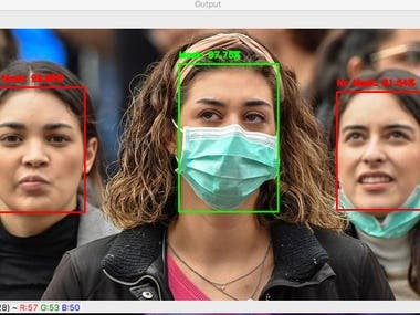 Due to the covid-19 situation, there are many problems facing real-world applications due to masking on faces. Because of that we would like to work on that and developed a project for that to detect application that is usable in realtime( 30 fps ).  Solution  What we have done to make it possible. 1. Gathering dataset from Kaggle, web scraping. 2. Generate more data with our working employee and use data augmentation on mscleb dataset. 3. Generating training code for PyTorch and Mxnet. Reason: mxnet inference time is much faster than pytorch.   https://github.com/Jaimin7632/Face-mask-detector-realtime