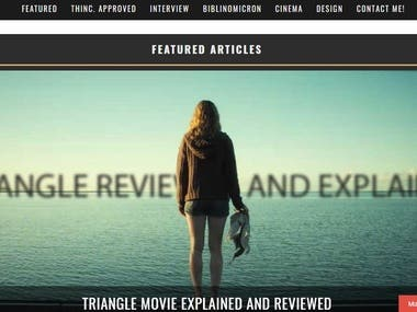 Taylor Holmes Inc is a website that does movie reviews.