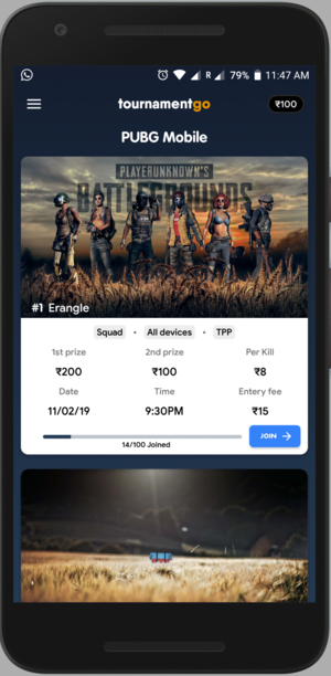 An E-Sports platform for hosting tournaments, charging users for every tournament. - Android Application written in JAVA. - Firebase as backend. - PAYTM payment gateway. - Automatic Payout using Cashfree.