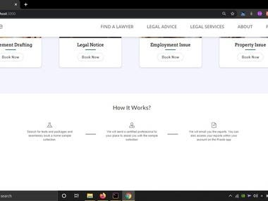 A Single paged WebApp connecting Lawyers to Clients. - React.js Frontend and Node.js/Express.js backend. - Mongo DB as database - CMS with seperate admin panel. - Solid Query Management System to provide right query to right Lawyer.