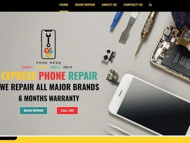 I designed this WordPress website using the same design as one of the existing Wix websites.  The site included functionality to book repair for any gadget or smart device like Smartphone/Laptop.