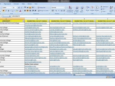 I have screenshot of my past work .  I will share the google sheet with you to work on it.