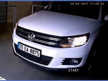 - License plate recognition using openalpr or service - Calibration of the openalpr configration - Multi camera processing