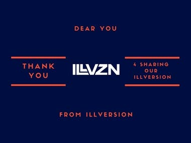 thank u card design that I created for ILL vision Brand.