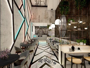Nitrogen Drinks and juices Shop Industrial design style Reliance in design on lights and smoke. Area 80 m2 locations . Dubai United Arab Emirates