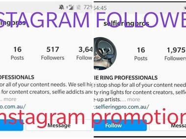 1400 followers on instagram organically