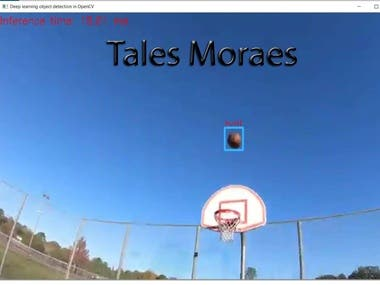 It detects and recognizes the position of ball in a video or image that comes in in real time.