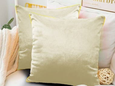 One of the examples of working with product photos. The main object is a decorative pillow. The background in this work was previously found on the Internet and then, by cropping the image, a photo of the main object was superimposed over it. The original photos of the main subject were taken against a neutral background with a regular smartphone camera by customer. The colors of the main object were changed on Photoshop.