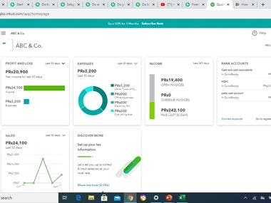 I have learned the QuickBooks Online + Excel.