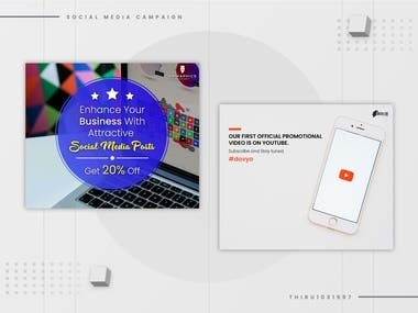 Social media post designs