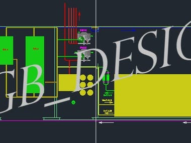2D and 3D Piping, Tank, Pump, CAD design and drawings