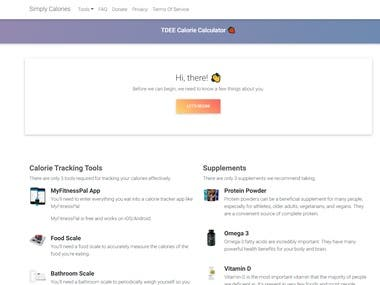 A website that helps you calculate your TDEE calorie needs with ease & more! Made using PHP, Jquery and MDBootstrap.