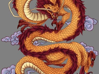 """This is a contest for a design that will be used on a t-shirt and possibly other products for the purpose of selling them. The theme is """"Dragon"""""""