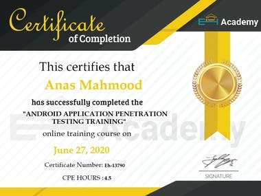 EH-Academy Certification