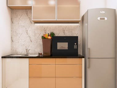 Create 3D render for Kitchen + Utility