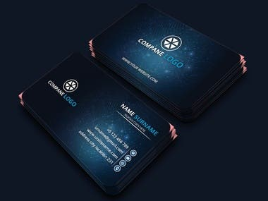 modern and professional corporate clean business card template