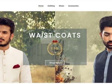 I developed this Premium mens clothing brand website from scratch in Wordpress. I made all the sliders and deisgn.  Website link https://hsratelier.com/