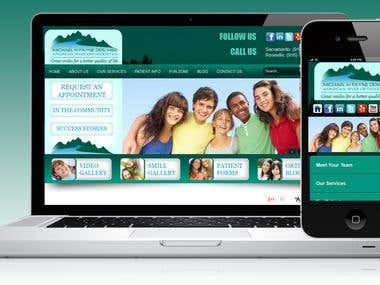 Website: http://m.americanriverorthodontics.com  The site is  coded using HTML5 / CSS3 / jQuery Mobile / PHP. The mobile version is created with same look & feel as that of the main site and is coded using Jquery Mobile. The script is added to handle the mobile detection and redirection to the mobile website.