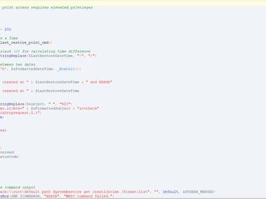 Get Windows Last Restore Point Using Autoit