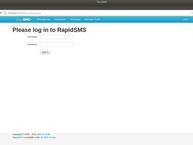 I will do RapidSMS installation | A Python based framework for building interactive SMS app  If you need complete RapidSMS setup, ping me on below contacts: Telegram: linuxlinked email: linuxlinked@gmail.com WhatsApp: +8801720903155 Skype:live:.cid.c0dc316b9d727d5e YouTube: https://youtu.be/9tTcmx4GC40 Checkout my GitHub Gist for RapidSMS installation: https://gist.github.com/LinuxlinkedBD/a1947f38882e360255cf9444ed0c96a5