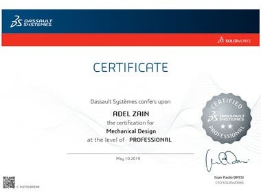 PROFESSIONAL - Mechanical Design Certified SolidWorks Professional
