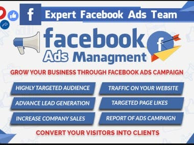Are you struggling with Facebook ads and FB marketing? OR Are you Finding a Facebook ads manager who can create highly targeted ad campaigns that convert? Then meet me.   I am an experienced and certified Facebook ads manager who has been in the digital marketing business since 2016 with 4+ years of experience.   I will provide the best services with these features:  ✪Bringing highly targeted traffic to your site at low Cost Per Click  ✪Converting traffic/leads into customers at lower Cost Per Acquisition  ✪Targeted page likes of potential customers and High Engagement  ✪Attractive Ad Image design and ad copy  ✪Profitable Ads Campaign for an E-Commerce store   Why choose me?  I spent over $19k on FB and Insta Ads for my clients in the past 4+ years and put many clients on the road to success.   ☸I believe; I will be a beneficial addition if I am going to be a part of your company. I want to express my eagerness to begin this project as soon as possible.   ✉Please send me a message and