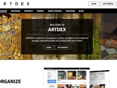 https://www.artdex.com/  - Yii website
