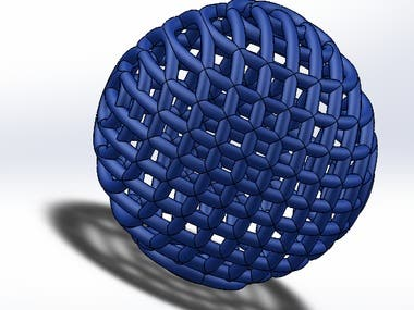 A complex shape designed using SOLIDWORKS to 3D printing.