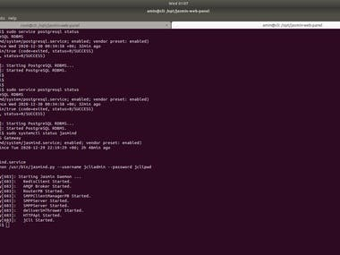 I will do Jasmin Web Panel setup on any Linux cloud server  If you need complete Jasmin Web Panel setup, ping me on below contacts: Telegram: linuxlinked email: linuxlinked@gmail.com WhatsApp: +8801720903155 Skype:live:.cid.c0dc316b9d727d5e YouTube: https://youtu.be/px4U_A4aFXY Checkout my GitHub Gist for Jasmin Web Panel installation: https://gist.github.com/LinuxlinkedBD/4990c49dca9d2051f9b488be0ab0095d