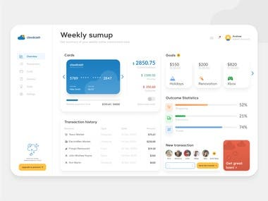 Dashboard Design for Web-based Application