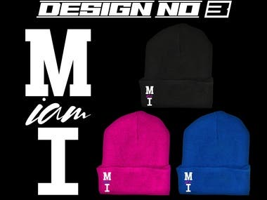 The design is for Shirts and for Beanie Hat.